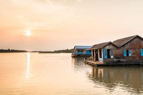 casa galleggiante Tonle Sap